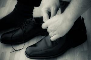Schuhe anziehen